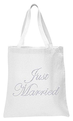 Luxus Handtasche Kristall Braut Hochzeit Geschenk-Beutel, Baumwolle The Bride Just Married