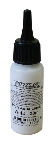 Eulenspiegel 611005 - Professional Liquid Aqua Schminke - 30 ml - Weiß (Sieht Make-up Halloween)