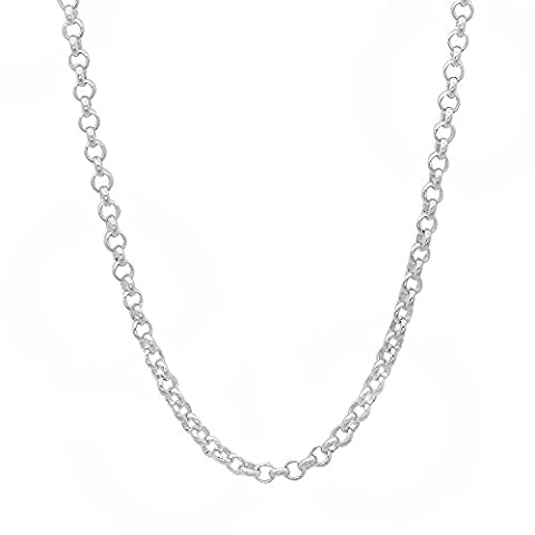 2,2 mm solide en argent sterling 925 Rolo Cable Link Italian Crafted Chain