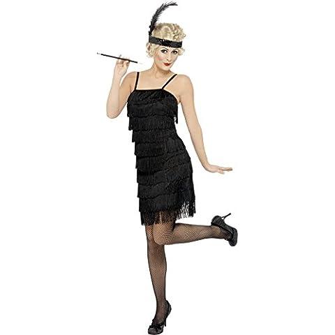 Smiffy's Fringe Vestido con Tocado Flapper and Garter (Pequeño)