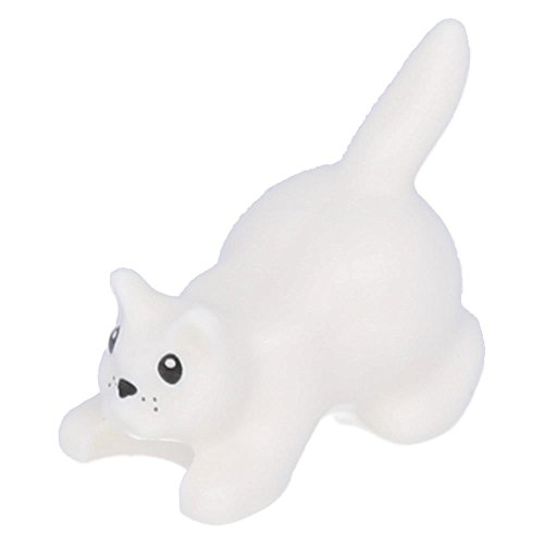 mit schwarzen Augen, Nase und Schnurrhaaren Weiß (Nase Katze)