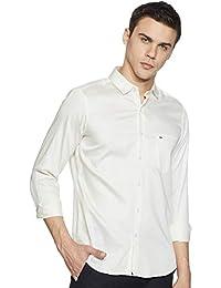 Indigo Nation Men's Slim Fit Casual Shirt (8907130452896_1ISD4672_39_Off-White)
