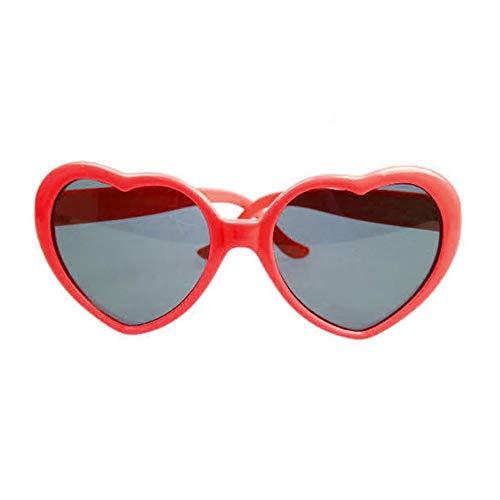 gfjfghfjfh Modische Herzform Sonnenbrille kunststoffrahmen uv400 Spiegel Unisex Sonnenbrille schöne Kinder Erwachsene Brillen für die Reise