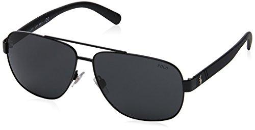 Polo Ralph Lauren Herren 0Ph3110 926787 60 Sonnenbrille, Schwarz (Demiblack/Grey),
