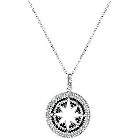 La noche estrellada blanco Zircon con ocho punta David Star 17.72