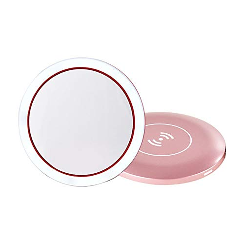 Espejo para Maquillarse LED de maquillaje iluminado Espejo de baño recargable con regulable pantalla...