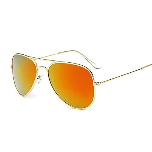 XIAOYUTOU Sonnenbrille Damen/Herren Classic Polarized Aviation Sonnenbrille Markenechte, hochwertige, Limitierte Version Eyewear (Lenses Color : Gold Orange)