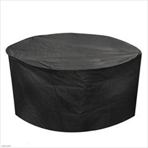 JIANFEI Gartenmöbel Abdeckung Abdeckplane Schutzhülle Wasserdicht Runder Tisch Oxford Tuch, 22...