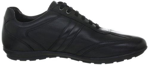 Geox U SYMBOL G U24A5G00043C9999 Herren Klassische Sneakers Schwarz (BLACK C9999)