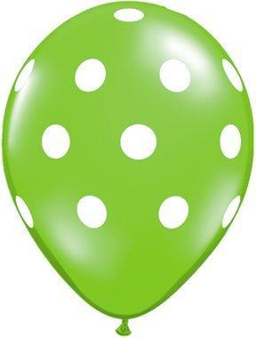 Jewel Lime Green Polka Dot Balloons - 11 inch Latex Polkadot - 50 Count by American Balloon Company (Green Lime Balloons)