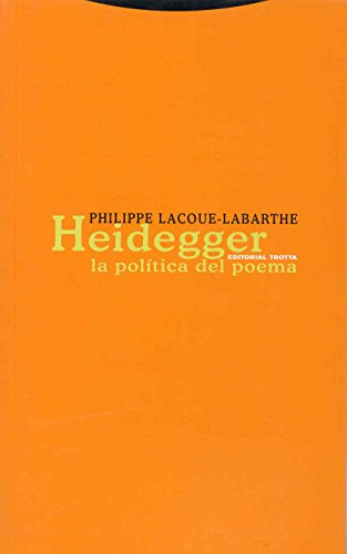 Heidegger: La política del poema (Estructuras y Procesos. Filosofía)