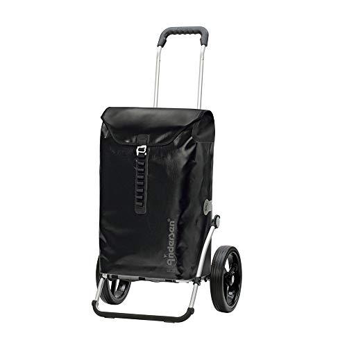 Andersen Shopper Royal mit 3-Speichenrad und Tasche Ortlieb 49 Liter Schwarz