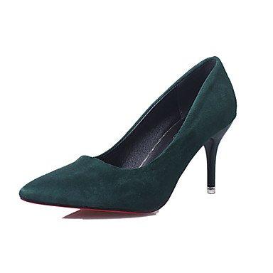Ch & Tou Tacones-oficina Y Trabajo / Formal / Casual-otros / Comoda-a Stiletto-gamuza-negro / Verde / Rosa / Rojo Gris