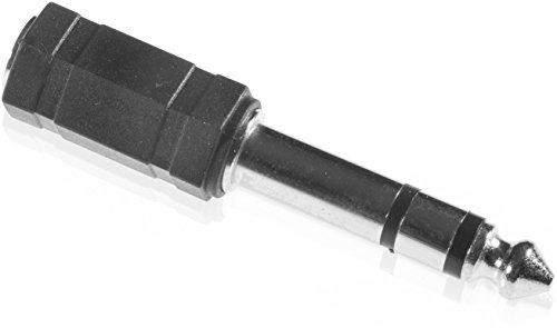 Poppstar Audio Klinkenadapter 6,3 mm Klinkenstecker auf 3,5 mm Buchse Klinkenstecker Adapter vergoldete Kontakte Kunststoffgehäuse