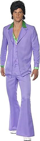 Disco Porter Costumes - Smiffys Déguisement Homme Costume Années 70, Veste