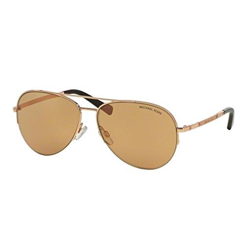 Michael Kors Damen  Sonnenbrille Michael Kors Gramercy MK1001, , , , , Gr. Large (Herstellergröße: 59), Rosa (roségold-roségold 1021R1) (Michael Sonnenbrille Kors Pink)