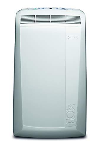 De\'Longhi PAC N81 Mobiles Klimagerät (Max. Kühlleistung 9400 Btu/h (35°C/80{5d34f2e26af444e06ef8c10273551d39f1fb477480415735b8ac423ba351f2cf} R.H.), Separate Entfeuchtungsfunktion, Geeignet für Räume bis 80 m³) Weiß