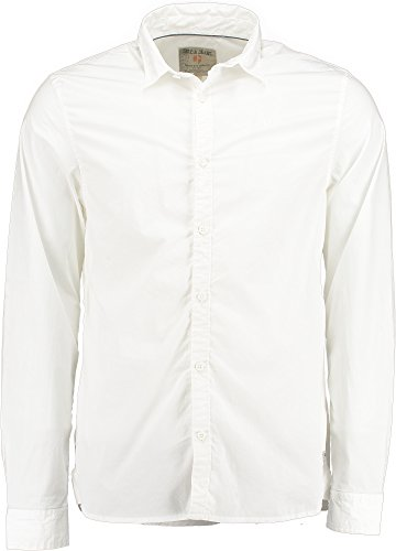Garcia - Chemise casual - Manches Longues - Homme Blanc - white 50