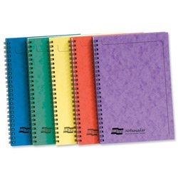brand-new-europa-notemaker-book-sidebound-ruled-80gsm-120-pages-a5-assorted-a-ref-4850z-pack-10