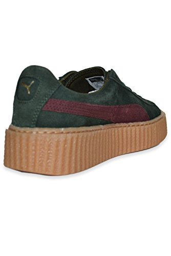 Puma Suede Creepers Satin Rihanna Green-Bordeaux-Gum