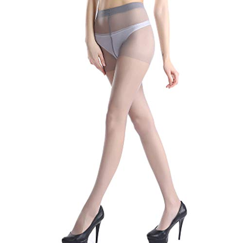 llwei258 Womens Plus Size Sexy Perspective Ultra-Thin Pantyhose High Waist Nylon Footed Tights Elastic Slim Stockings Lingerie Solid Color Basic
