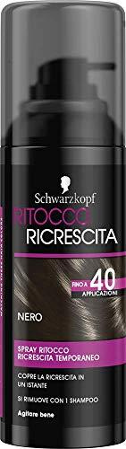 Schwarzkopf ritocco ricrescita, spray temporaneo per la ricrescita dei capelli, nero, 120ml