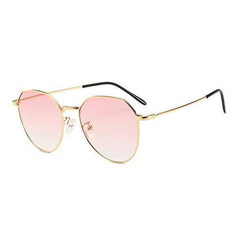 MJDABAOFA Sonnenbrillen,Neue Piloten Sonnenbrille Unisex Sonnenbrille Gold Frame Pink Linse Brillenmode Shades Sonnenbrille Männer Frauen Brillen Uv400