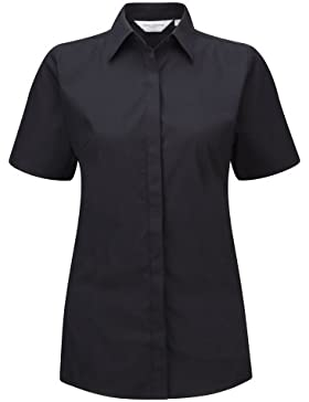 Russell- Camisa de manga corta elástica y transpirable para mujer