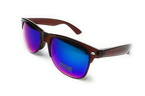 KGM Accessories Piloten-Sonnenbrille, Vintage-Stil, mit Rahmen, Blau