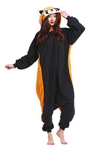 Karneval Halloween Kostüm Nachtwäsche Cosplay Pyjama Erwachsene Unisex Kigurumi Jumpsuit (M (für Höhe 156-163CM), Waschbär) ()