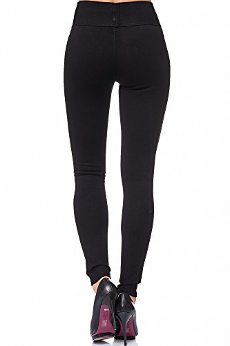 Elara Damen stretch Hose |High Waist| Skinny Jegging | hoher Bund | Slim Fit | Chunkyrayan Schwarz
