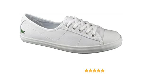 700ff9297 Lacoste Womens Womens Ziane PS Leather Pumps in White - UK 5  Amazon.co.uk   Shoes   Bags