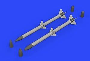 Eduard EDB632132 1:32-AIM-120A/B AMRAAM Kit de Modelo de latón, Varios