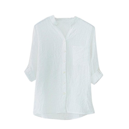 TWIFER Top Selling Women Ladies Summer Autumn Cotton Solid Long Sleeve Shirt Casual Loose Blouse Button Down Tops