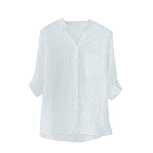 36789a018298 VEMOW Heißer Verkauf Mode Frauen Damen Sommer Herbst Freien Baumwolle  Solide Langarm-Shirt Beiläufige Lose