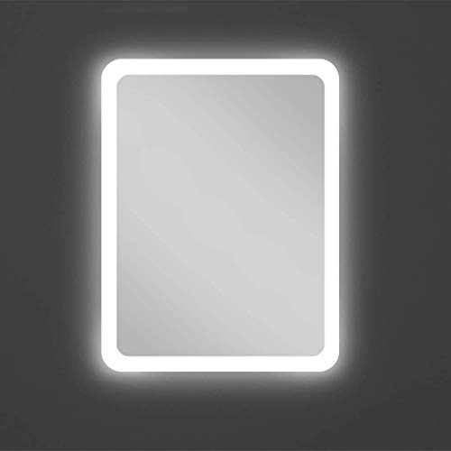 SDK Badezimmerspiegel - Rechteckiger LED Beleuchteter Wandspiegel Mit Beleuchtung Demister Pad FüR Make-Up Dressing Rasur, 3 GrößE (Color : White Light - No Switch, Size : 70X90CM) - Dressing-pads