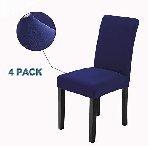 Veakii R Fundas para sillas Pack de 4 Fundas sillas Comedor, Lavable...
