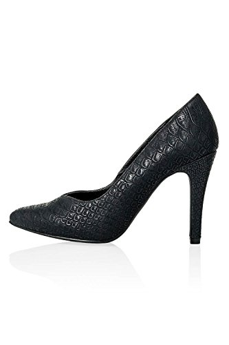 Only Damen Pumps High Heels Kunstleder Schlangenleder-Optik (38, Black/Snake)