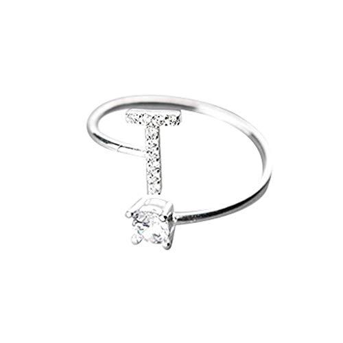 UINGKID Schmuck Damen Ring Modische und einfache Öffnung 26 Buchstaben mit Diamant Ring Damen Schmuck (Rot Womens Nikes)