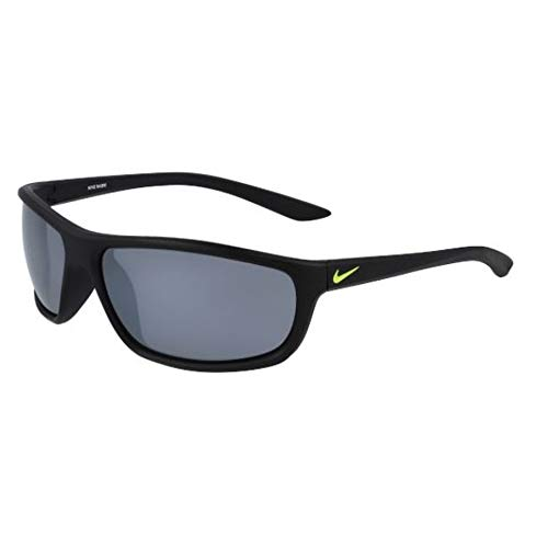 Nike occhiali da sole rabid ev1109 007 64-15-135 unisex matt black lenti grey silver flash