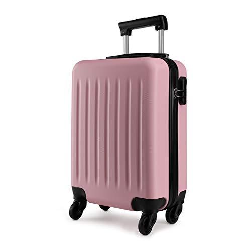 Kono ABS Kleiner Koffer Handgepäck Leichte starre Kabine mit 4 Rädern 48x30x20cm