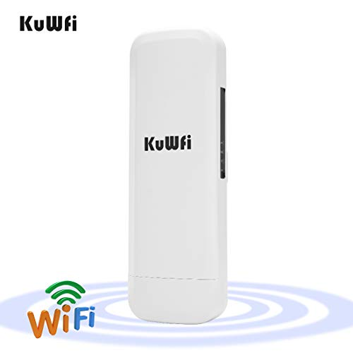 KuWFi Outdoor WLAN Access Point, 300 Mbps Wireless Outdoor CPE mit WiFi Reapter Fernverkehr des Access Point Wireless WiFi Brücke Außen Adapter CPE