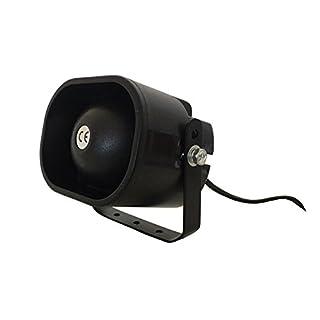 Alarmsirene Alarm Sirene 230 Volt für Alarmanlage Haus Hof Garage Garten Bewegunsgmelder Spritzwasser geschützt 1,8 Meter Kabel YMPA UET-ALARMSIR