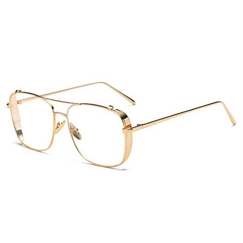 XCYQ Brillengestell Brille Übergroßen Legierung Männer Brillen Transparent Hd Objektiv Frauen Optische Glasrahmen Vintage Eyewear