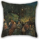 uloveme-oil-painting-jerome-myers-night-in-seward-park-throw-pillow-case-best-for-home-officecouchlo