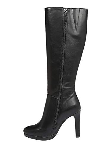 Stiefel Schuhe Verkauf - Buffalo Damen Fedora Hohe Stiefel, Schwarz