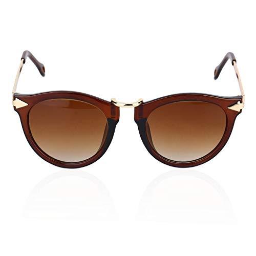Metall-und Kunststoffrahmen Unisex-sonnenbrille Männer Frauen Brillen Runde Sonnenbrille
