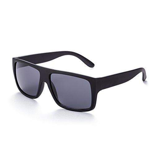 NYKKOLA Fashion Color polarizadas UV lentes de espejo vintage mujeres hombres gafas de sol Wayfarer Gafas con soporte para gafas, diseño de caso, negro