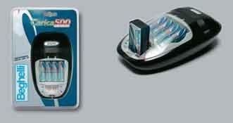 Beghelli 500 Chargeur de batterie domestique Noir, Blanc - Chargeurs de batterie (Hybrides nickel-métal (NiMH), AA/AAA, 14 h, Noir, Blanc, Chargeur de batterie domestique, 9v,AA,AAA)