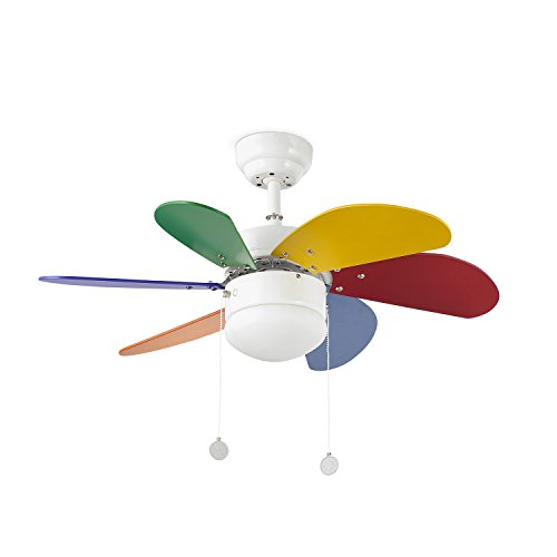 Faro 33179 Palao Ventilatore da Soffitto Multicolore
